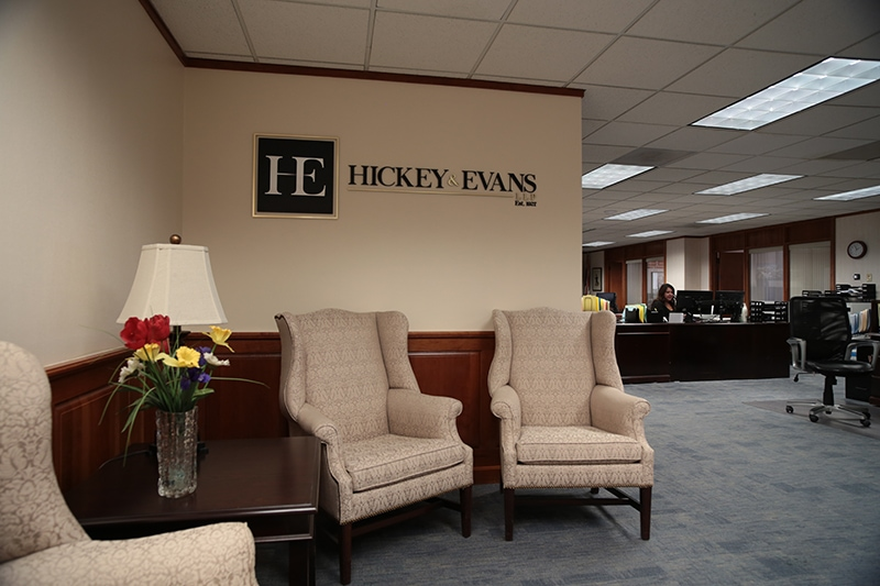 Hickey & Evans reception area